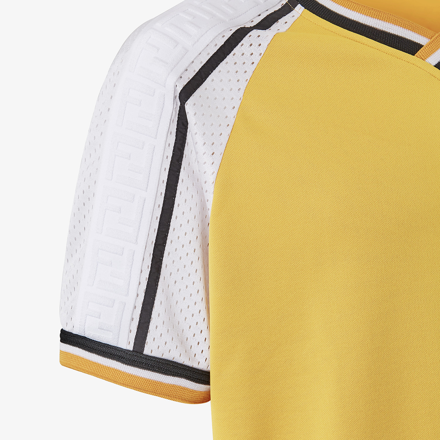 FENDI T-SHIRT - Yellow acetate T-shirt - view 3 detail