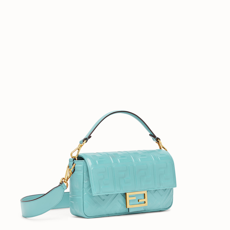 FENDI BAGUETTE - Pale blue leather bag - view 3 detail
