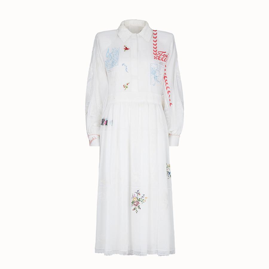 FENDI DRESS - White fabric shirt dress - view 1 detail