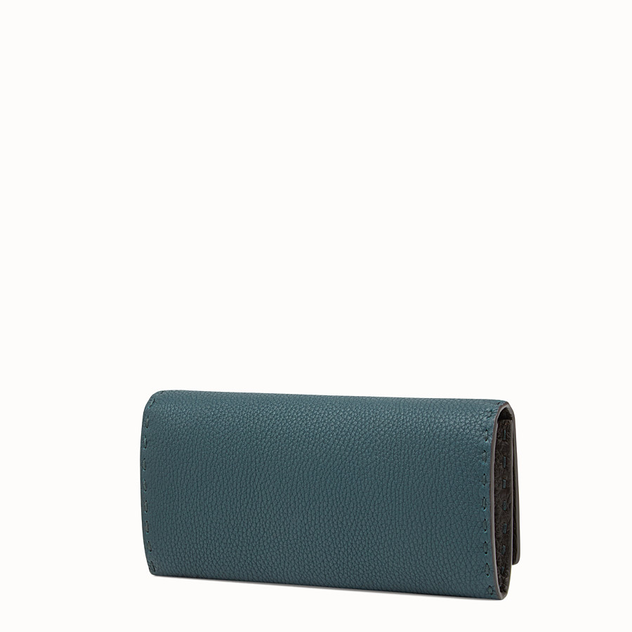 FENDI WALLET - Selleria green and brown continental wallet - view 2 detail
