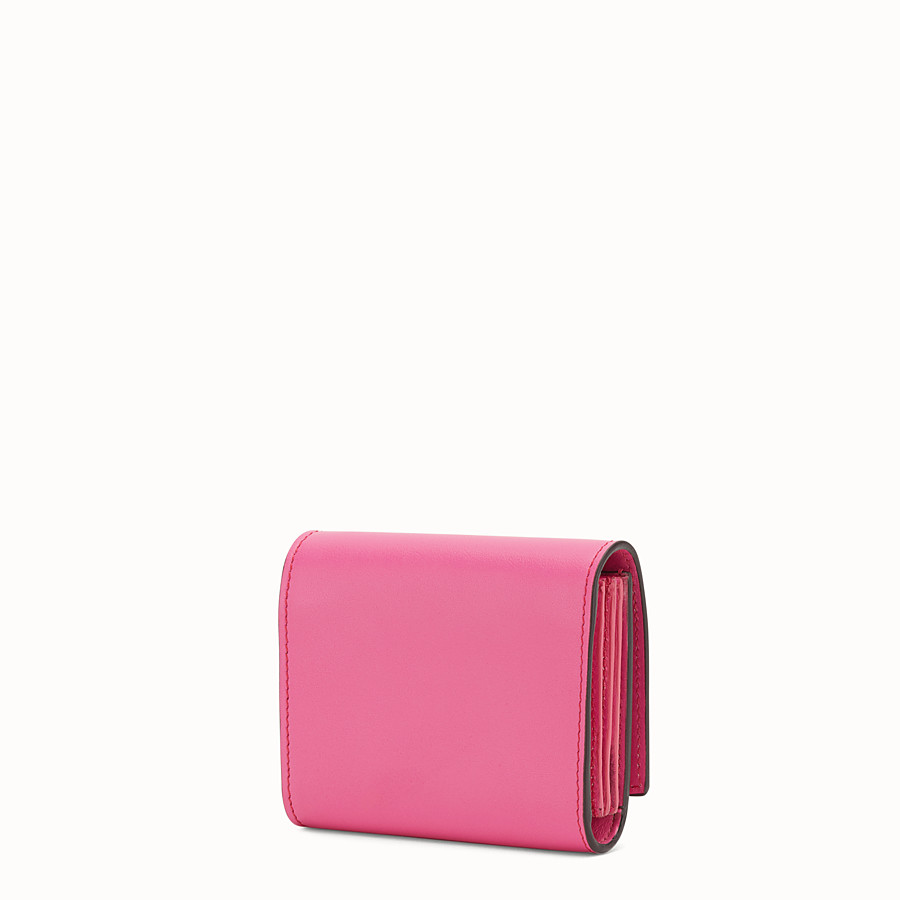FENDI CARD HOLDER - Pink leather card holder - view 2 detail