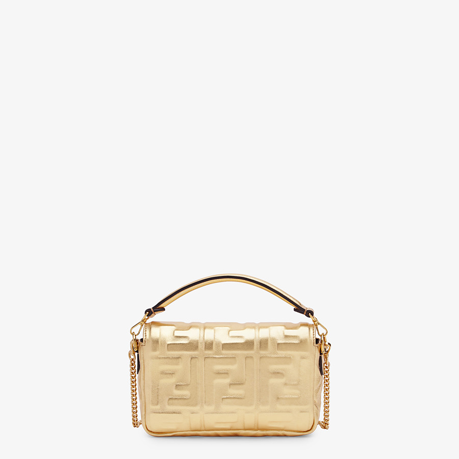 FENDI BAGUETTE MINI - Golden leather bag - view 3 detail