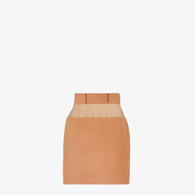 FENDI SKIRT - Brown cotton skirt - view 1 detail