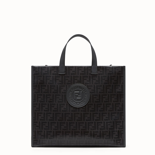 FENDI SHOPPER - Black fabric bag - view 1 small thumbnail