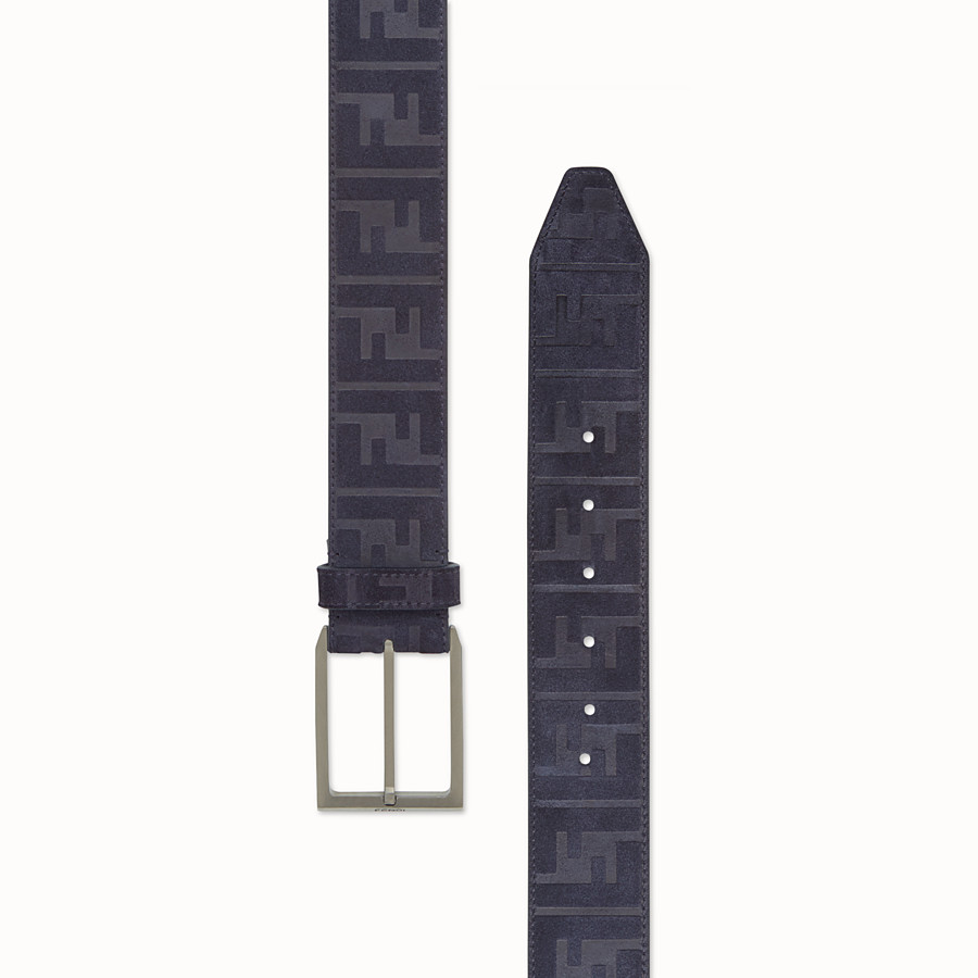 FENDI BELT - Blue leather belt - view 2 detail