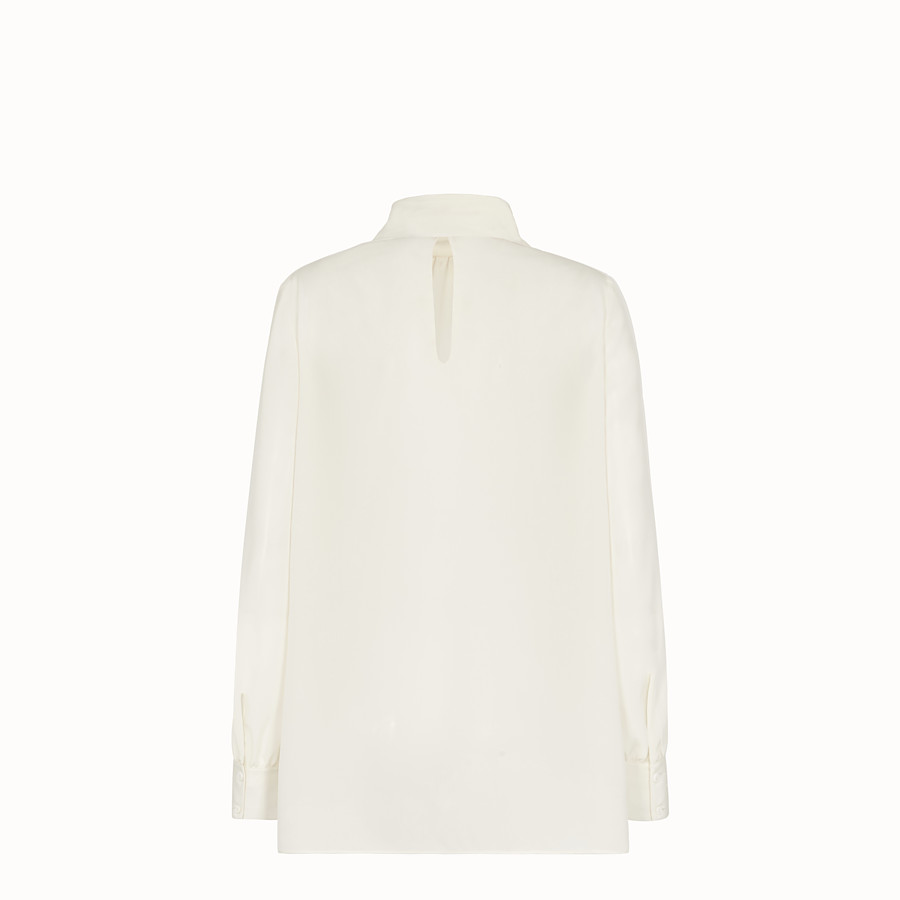 FENDI SHIRT - White crêpe de Chine blouse - view 2 detail