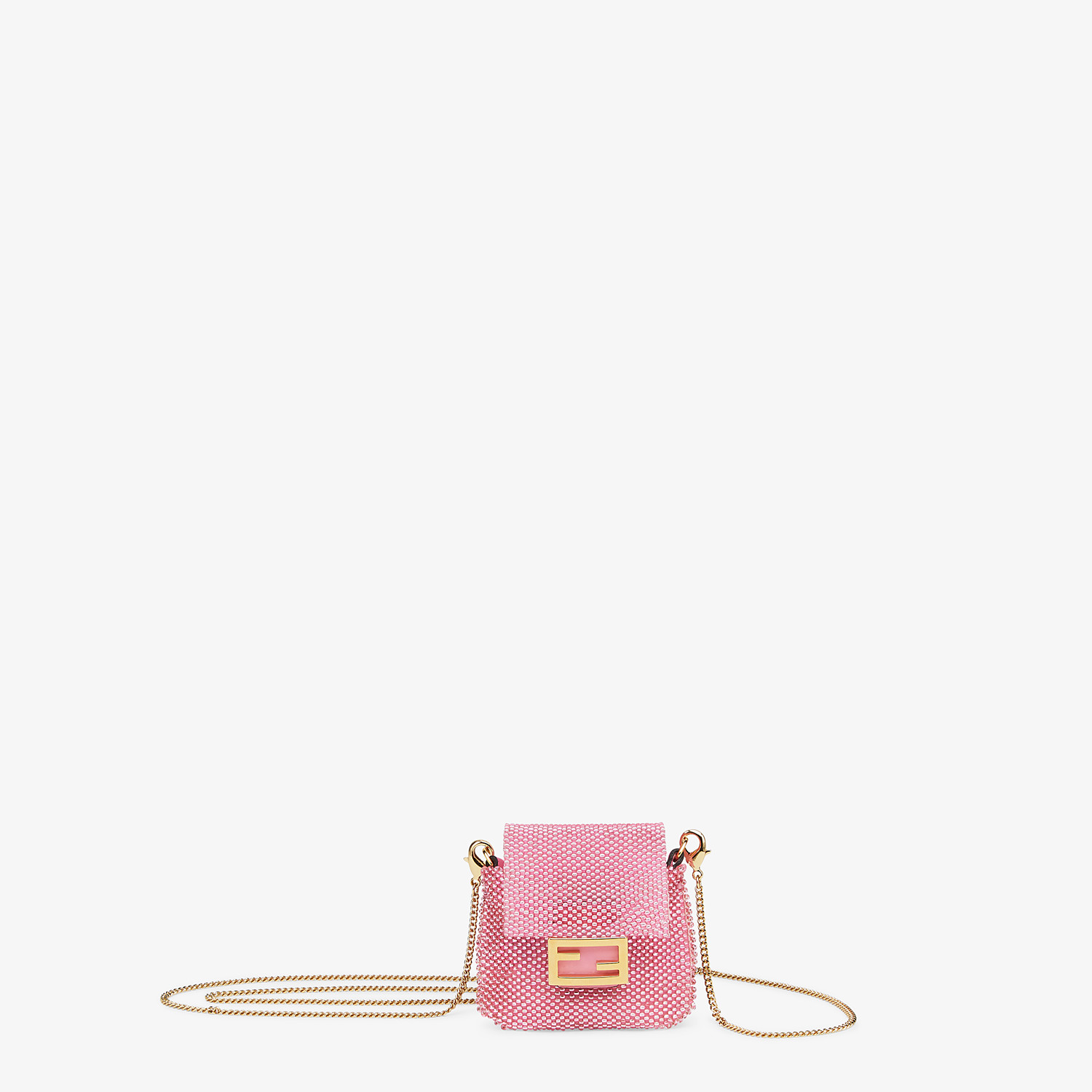 FENDI PICO BAGUETTE CHARM - Charm with pink beads - view 1 detail