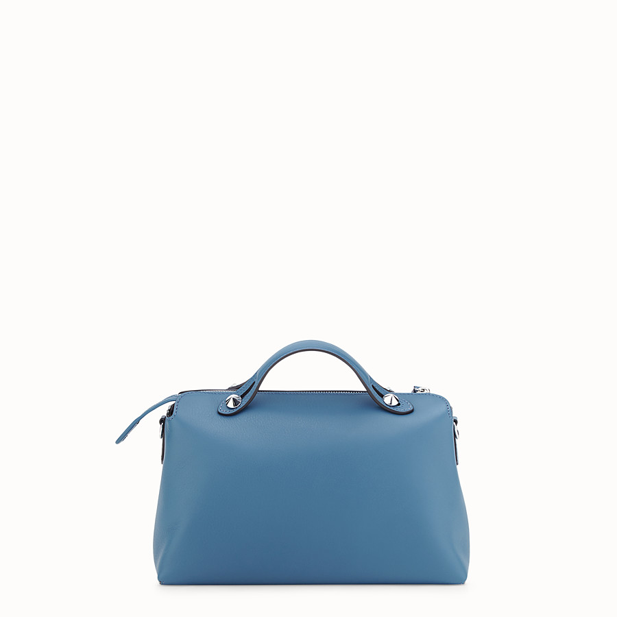 FENDI BY THE WAY REGULAR - Blue leather Boston bag - view 3 detail
