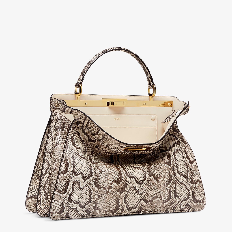 FENDI PEEKABOO ISEEU LARGE - Natural python leather bag - view 5 detail