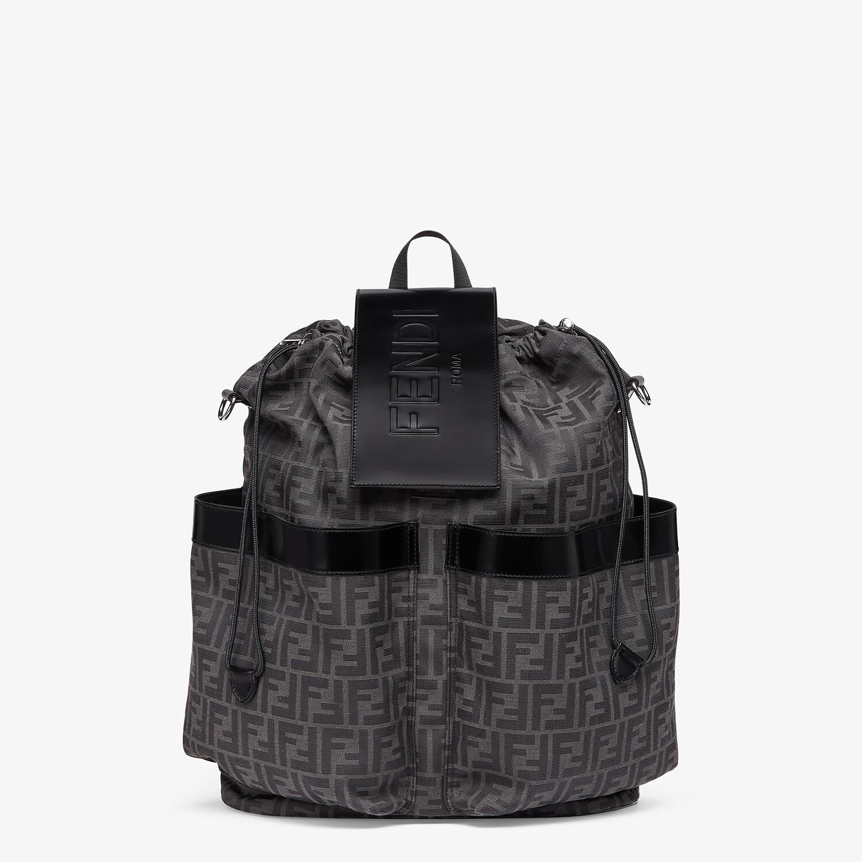 FENDI DRAWSTRING BACKPACK - FF jacquard fabric backpack - view 1 detail