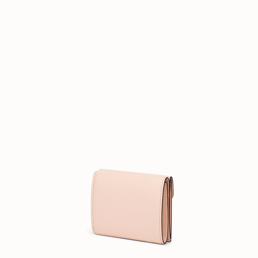 FENDI MICRO TRIFOLD - Pink leather wallet - view 2 detail