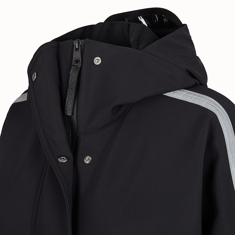 FENDI JACKET - Black tech fabric jacket - view 3 detail