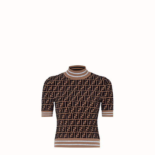 FENDI PULLOVER - Maglia Fendi Prints On in viscosa - vista 1 thumbnail piccola