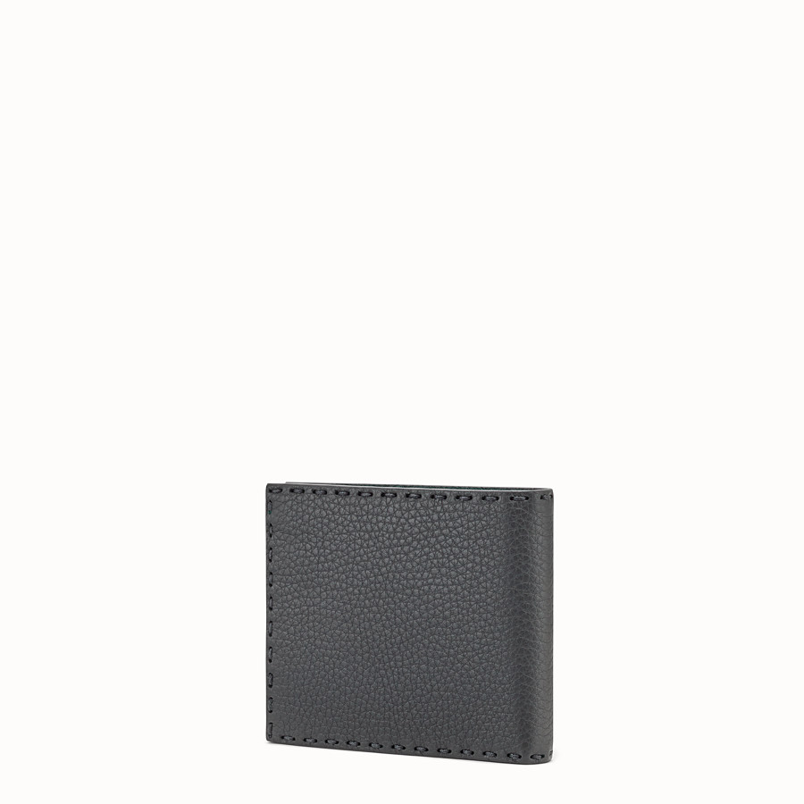 FENDI WALLET - Gray leather bi-fold wallet - view 2 detail