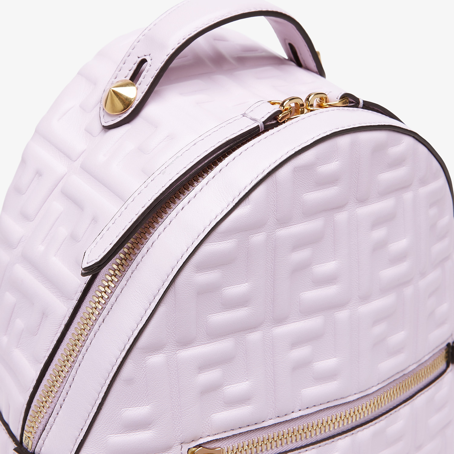 FENDI MINI BACKPACK - Lilac leather FF backpack - view 5 detail