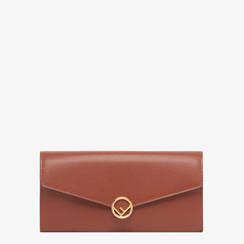 FENDI CONTINENTAL - Portafoglio in pelle marrone - vista 1 dettaglio