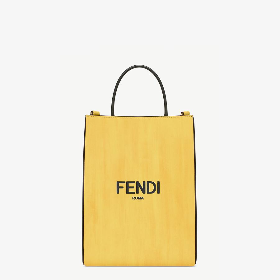 FENDI FENDI PACK SMALL SHOPPING BAG - Yellow leather bag - view 1 detail
