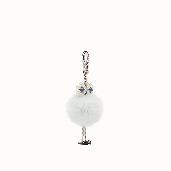 FENDI CHICK CHARM - Pale blue fur charm - view 1 small thumbnail