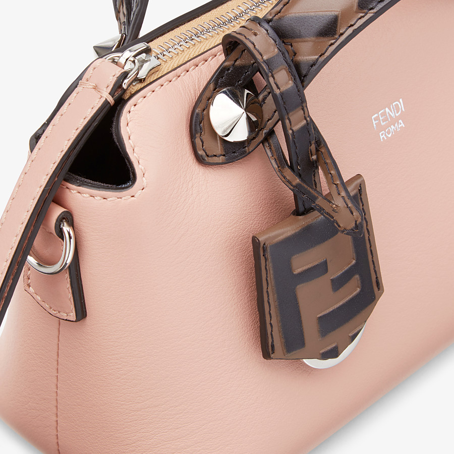 FENDI BY THE WAY MINI - Pink leather small Boston bag - view 6 detail