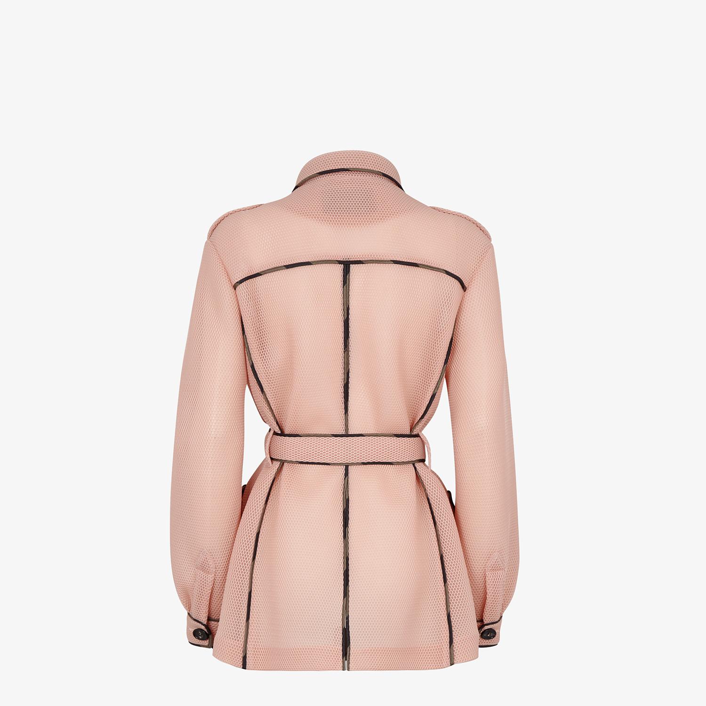 FENDI JACKET - Safari jacket in pink tech mesh - view 2 detail