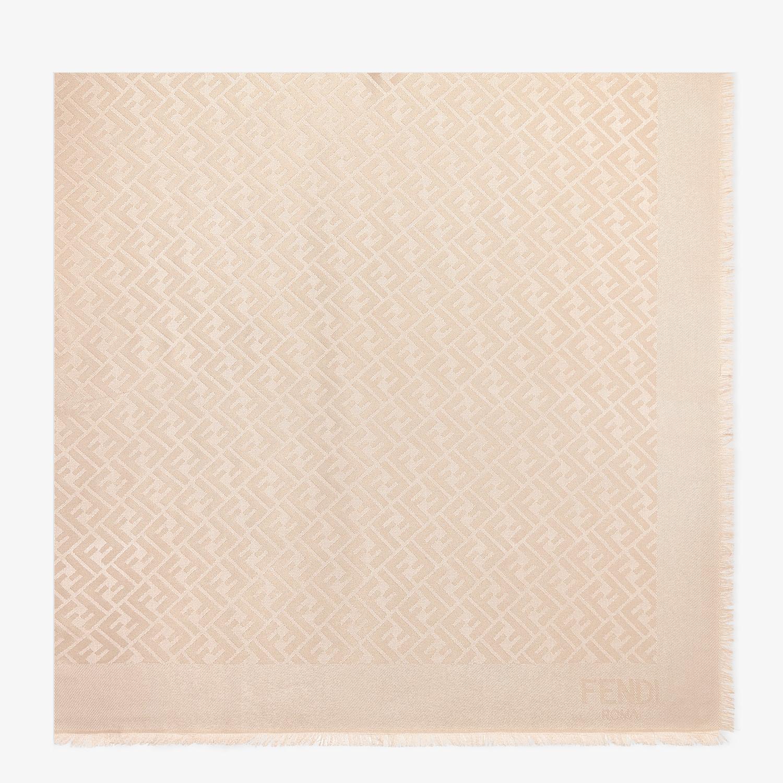 FENDI FF SHAWL - Pink silk, viscose and wool shawl - view 1 detail