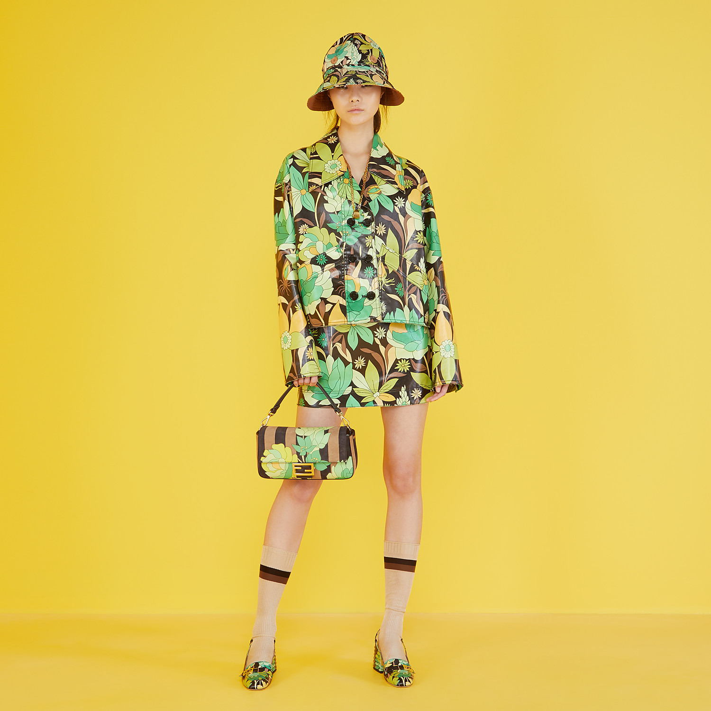FENDI JACKET - Multicolour cotton jacket - view 4 detail