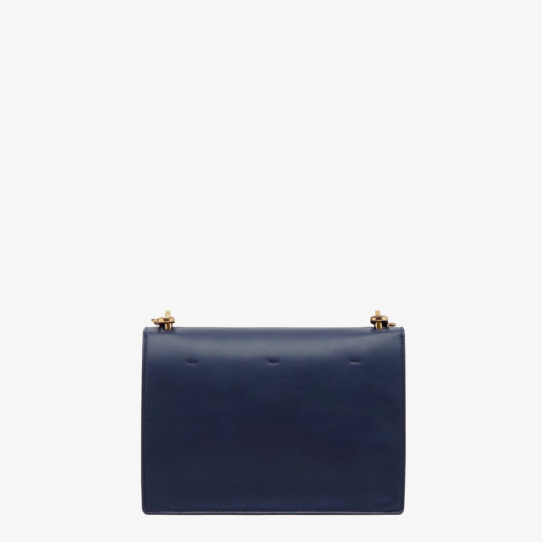 FENDI KAN U - Blue leather bag - view 4 detail