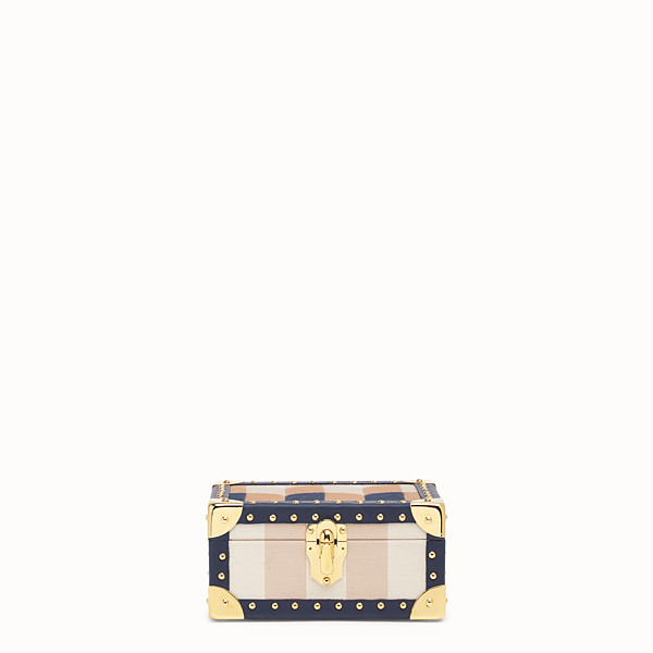 FENDI TRAVEL CASE SMALL - Travel case in multicolor jacquard - view 1 small thumbnail