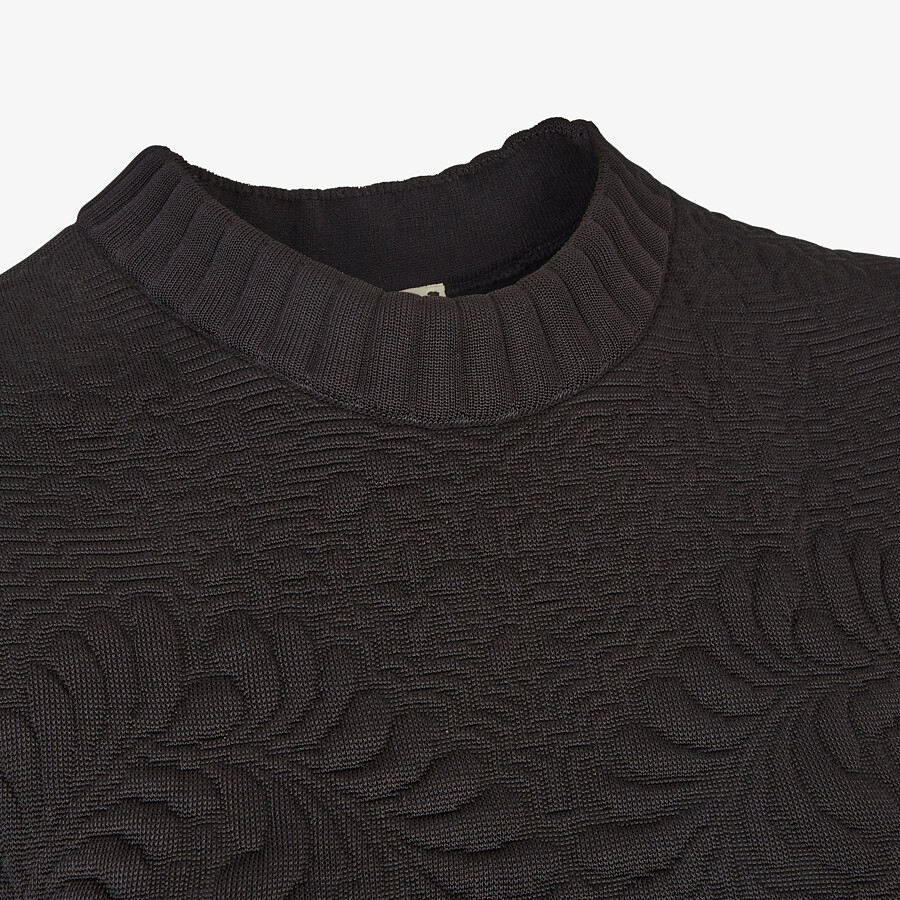 FENDI DRESS - Black viscose dress - view 3 detail