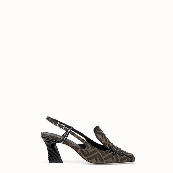 FENDI SLINGBACK - Slingback in tessuto multicolor - vista 1 thumbnail piccola