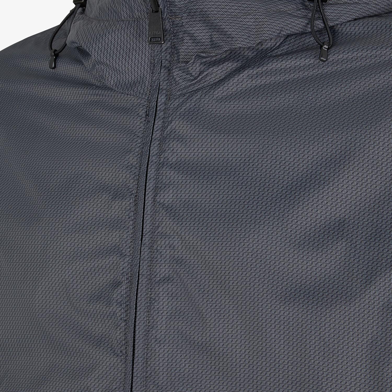 FENDI WINDBREAKER - Gray nylon jacket - view 3 detail