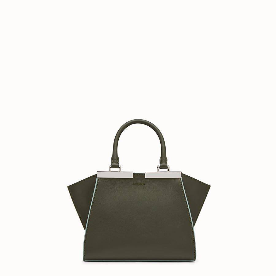FENDI 迷你款式3JOURS - 草綠色皮革手提包 - view 3 detail