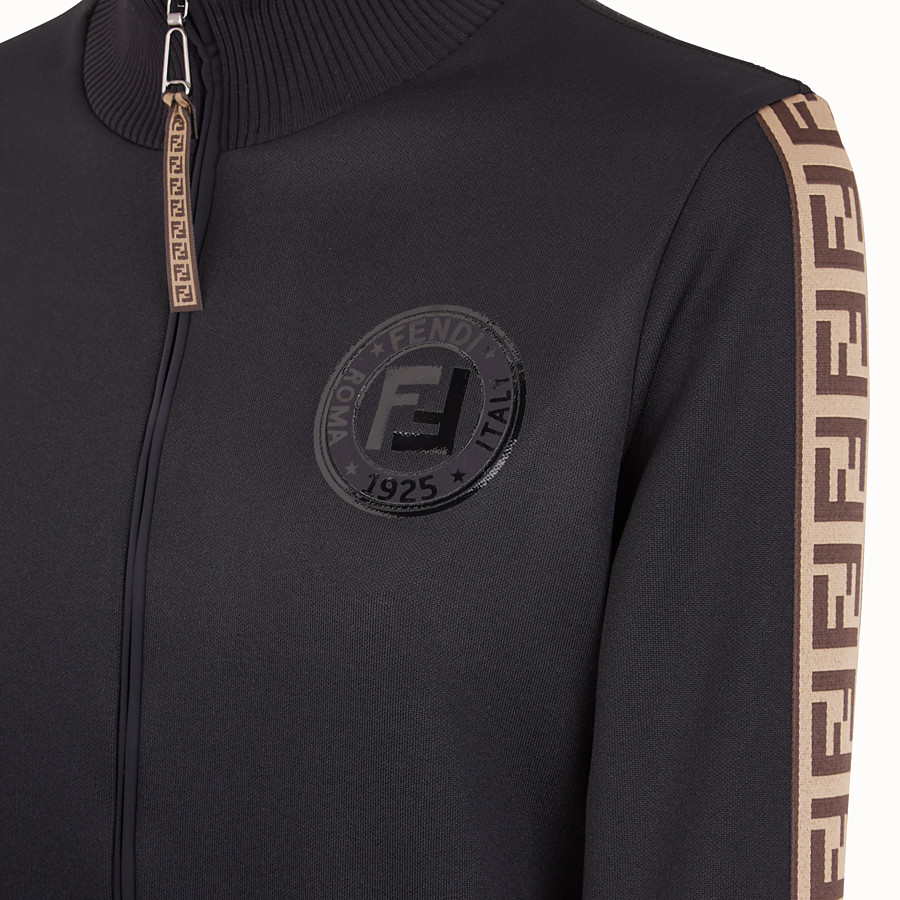 FENDI SWEAT-SHIRT - Sweat-shirt en jersey noir - view 3 detail