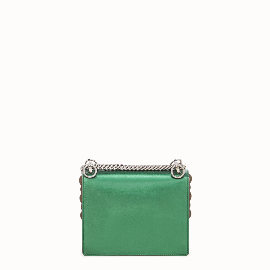FENDI KAN I SMALL - Green laminated leather mini bag - view 3 detail