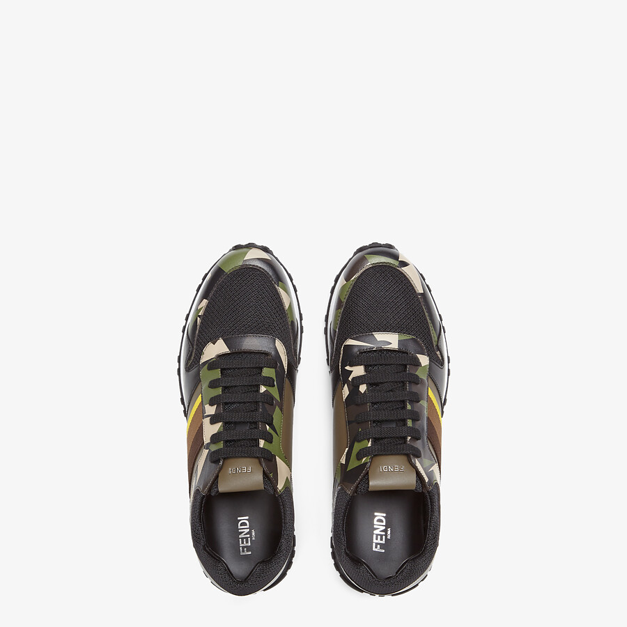 FENDI SNEAKERS - Multicolor leather low-tops - view 4 detail