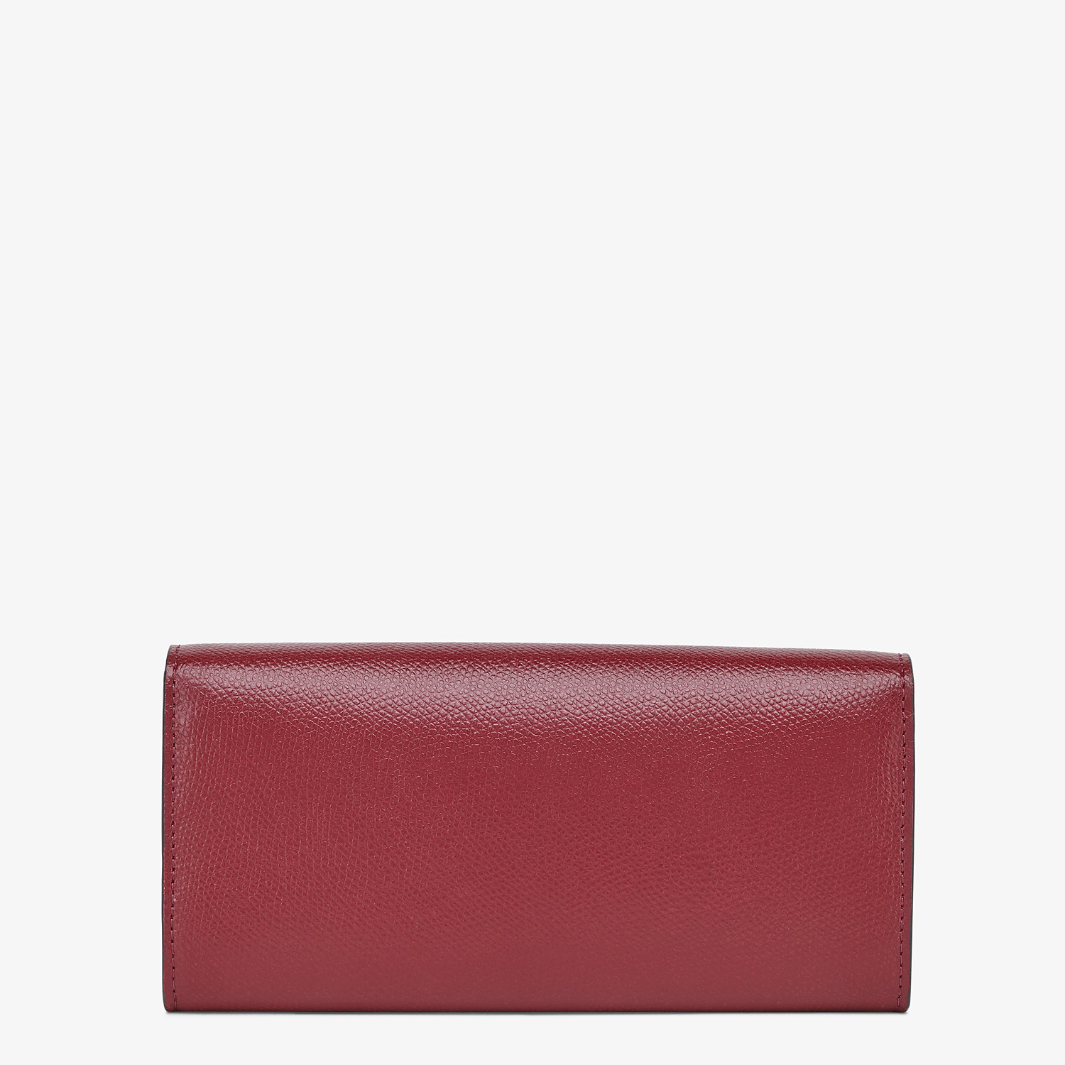 FENDI CONTINENTAL WITH CHAIN - Burgundy leather wallet - view 3 detail