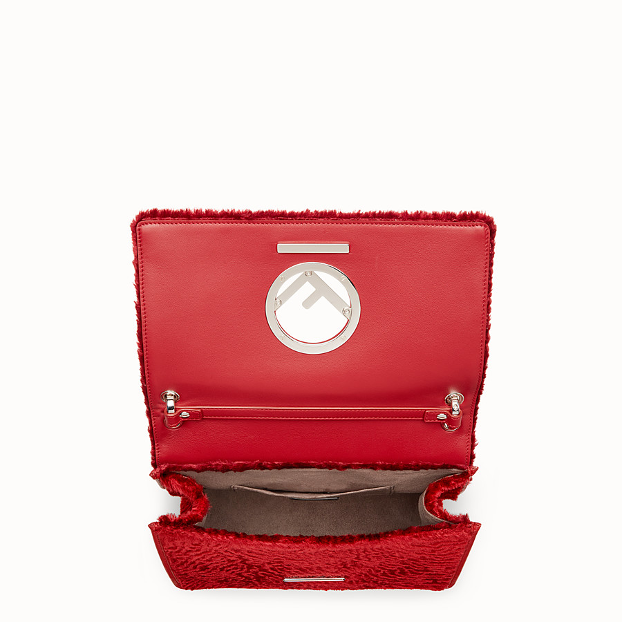 FENDI KAN I F - Red velvet bag - view 4 detail