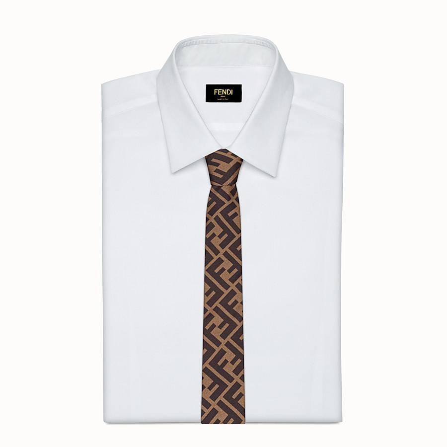 FENDI CRAVATTA - Cravatta in seta marrone - vista 2 dettaglio