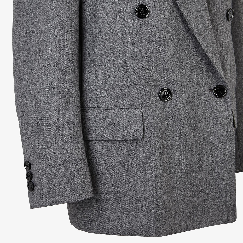 FENDI JACKET - Grey flannel blazer - view 3 detail