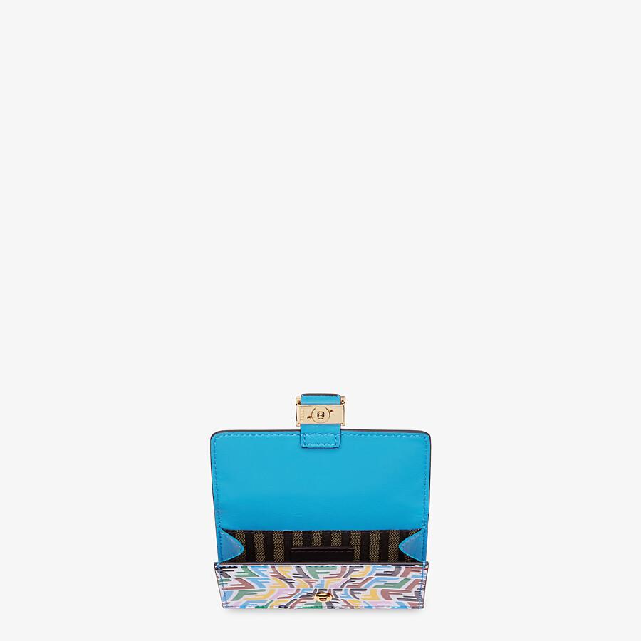 FENDI CARD HOLDER - Multicolor leather card holder - view 3 detail