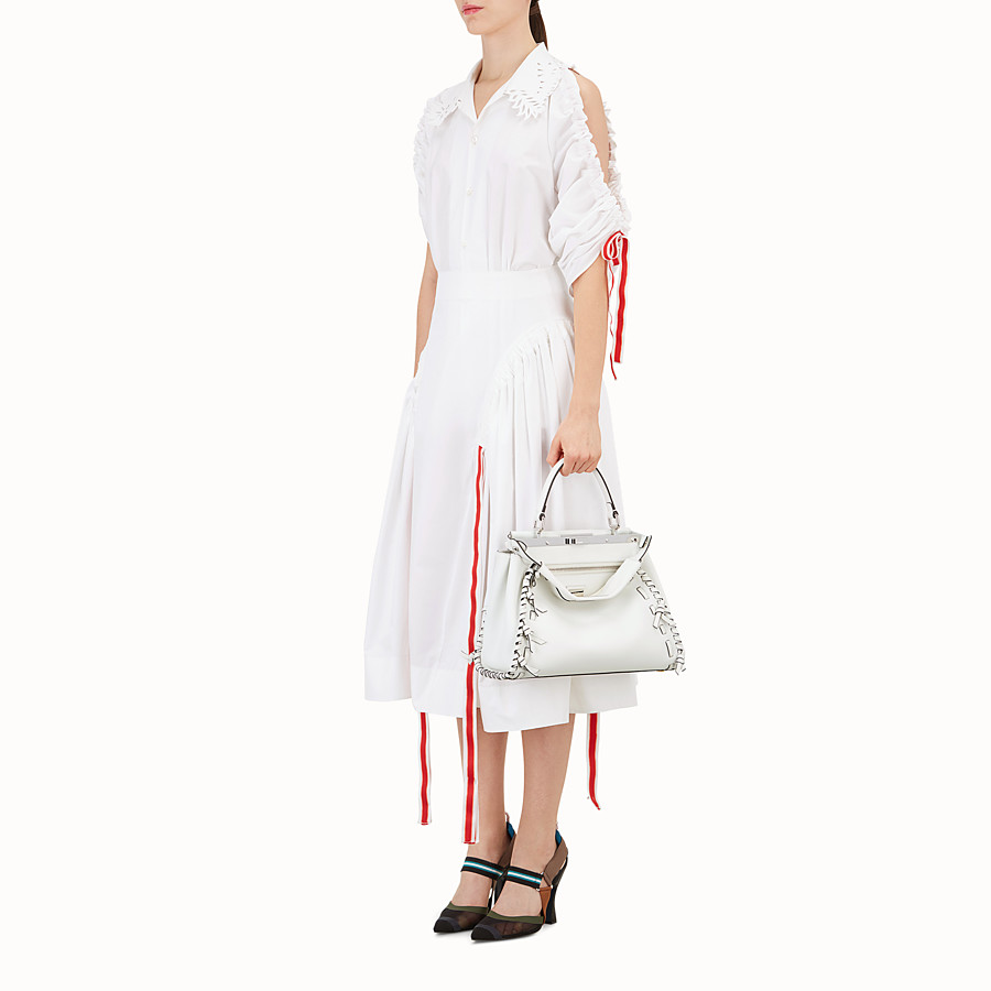 FENDI PEEKABOO REGULAR - Sac en cuir blanc - view 5 detail