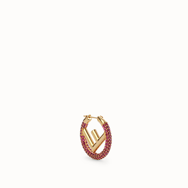 FENDI F IS FENDI EARRING - Gold-colour earring - view 1 small thumbnail