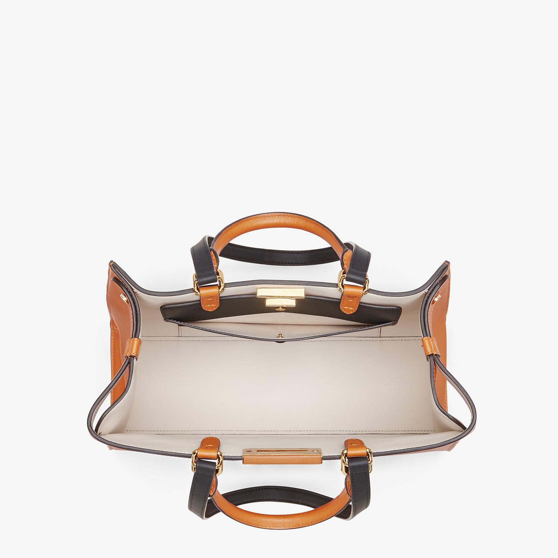 FENDI SMALL PEEKABOO X-TOTE -  Brown leather bag - view 5 detail
