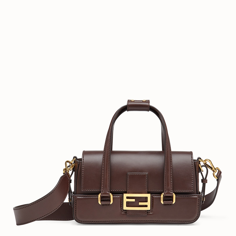 FENDI BAGUETTE WITH BASKET CASE - Brown leather bag - view 1 detail