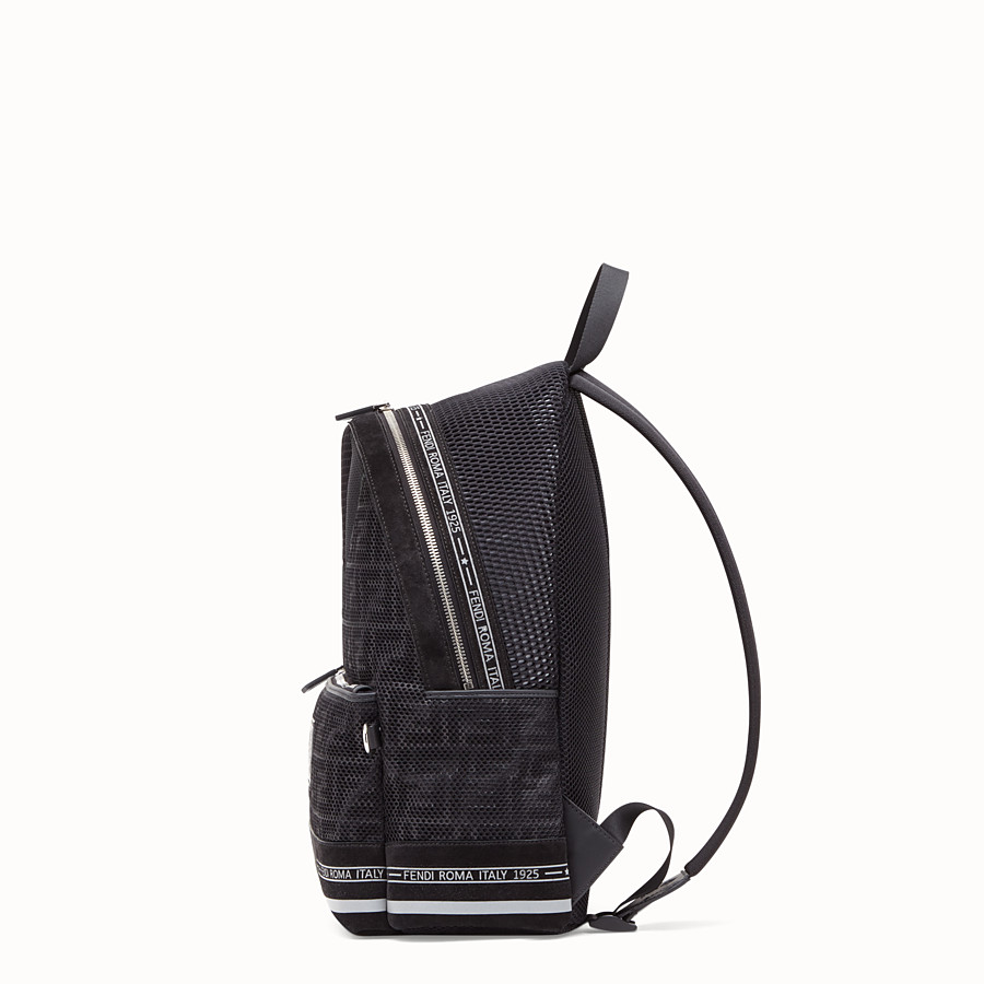 FENDI BACKPACK - Black tech fabric backpack - view 2 detail
