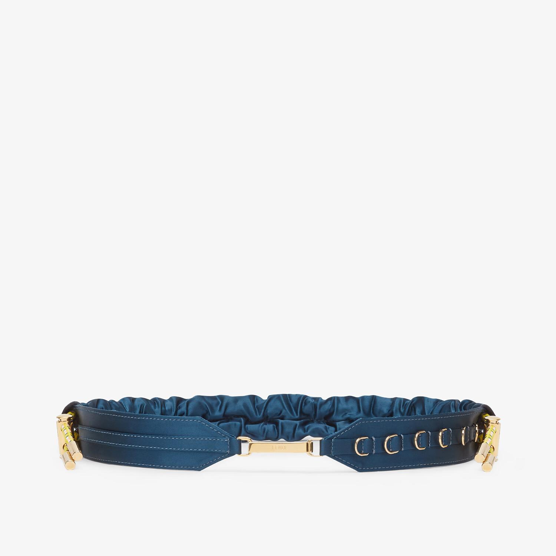FENDI BELT - Blue satin belt - view 1 detail