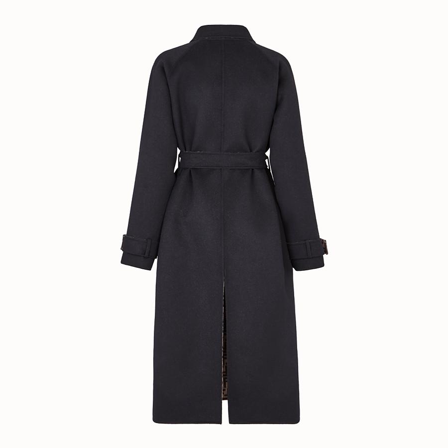 FENDI OVERCOAT - Black wool coat - view 2 detail