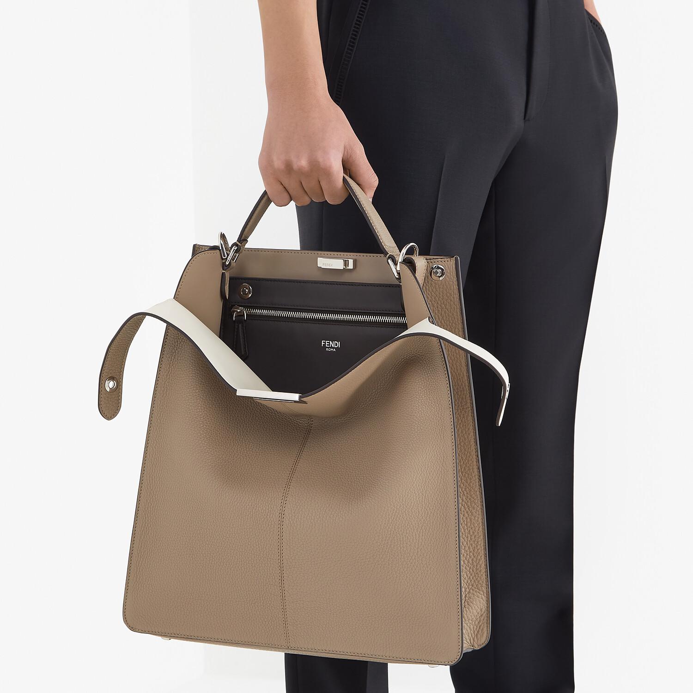 FENDI PEEKABOO ISEEU TOTE - Beige leather bag - view 7 detail