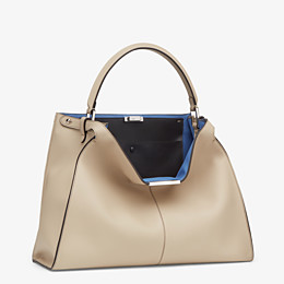 FENDI PEEKABOO X-LITE LARGE - Beige leather bag - view 3 thumbnail