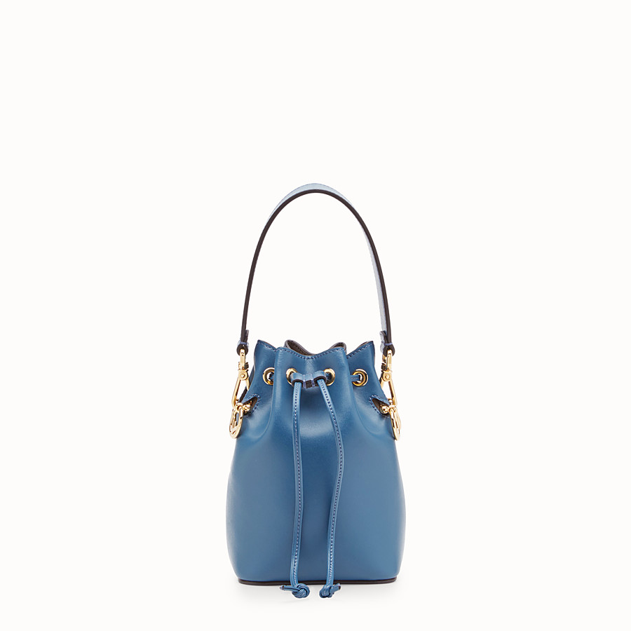 FENDI MON TRESOR - Blue leather mini-bag - view 1 detail